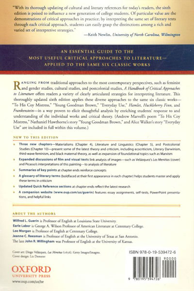 a handbook of critical approaches to literature pdf